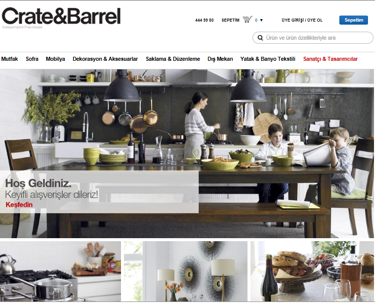 Crate and Barrel kupon kodu: %60 indirim