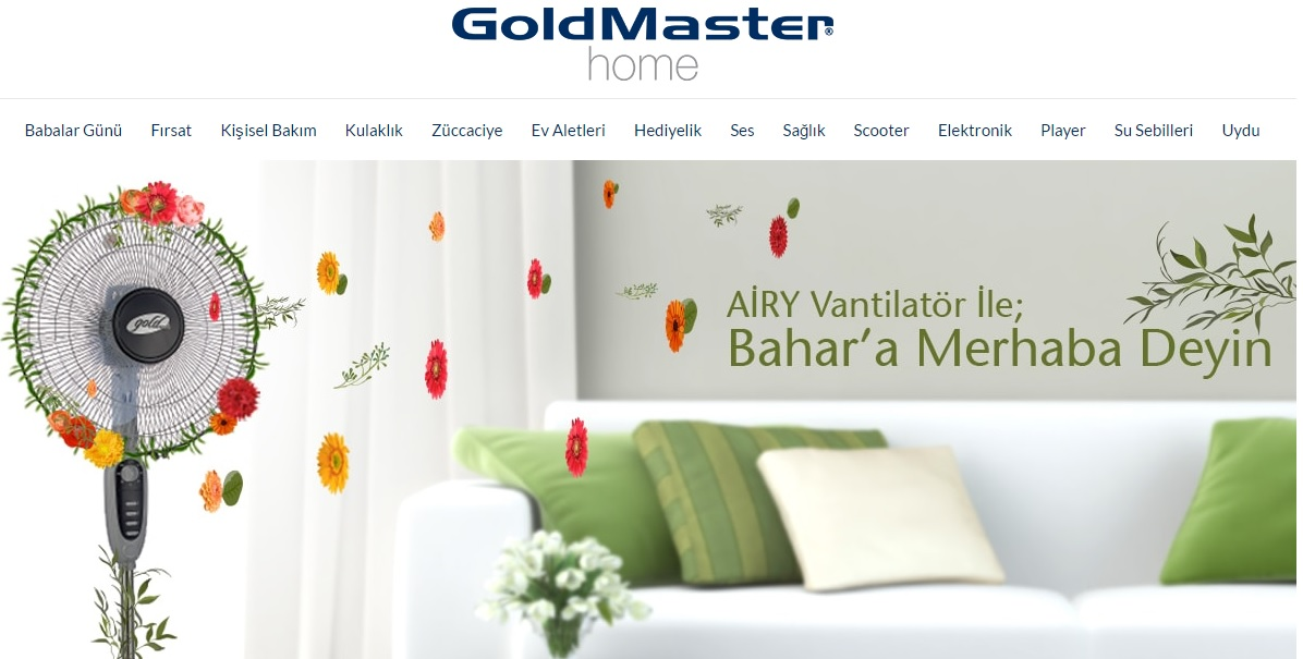 Goldmaster Home indirim kodu ile Powerbank 'te %60